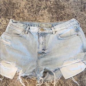 TOPSHOP MOTO Rosa Jean Shorts Size 6